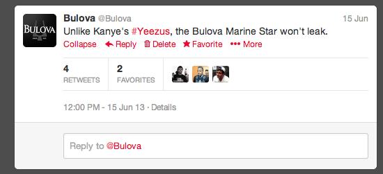 Bulova Twitter
