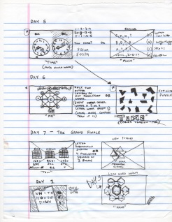 Original puzzle sketches.